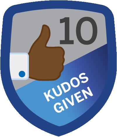 Kudos Given 10
