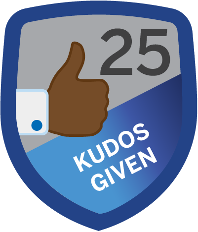 Kudos Given 25