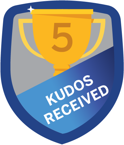 Kudos Received 5