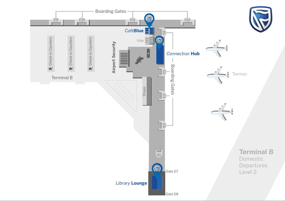 Airport Lounge Map
