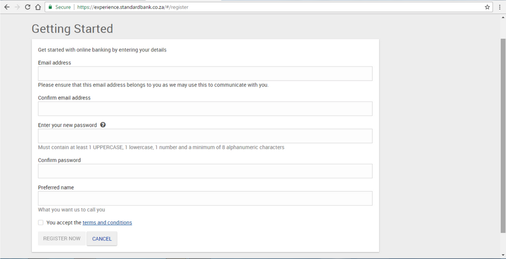 Step 2 Registering for new Online Banking