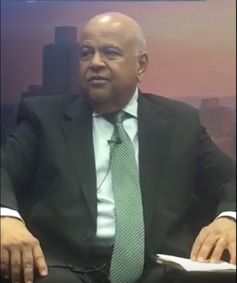 South Africa's Finance Minister Pravin Gordhan speaking at the Standard Bank Africa Investors' Conference.