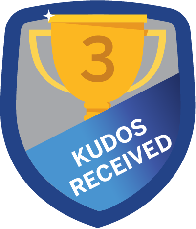 Kudos Received 3