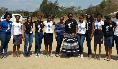 Our female employees using the power of mentorship to encourage young girls to stay in school and to be powerful agents of change.
