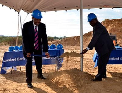 Standard Bank's executive team prepares ground for construction of the bank's new head office, the first phase of which is scheduled for completion in 2019