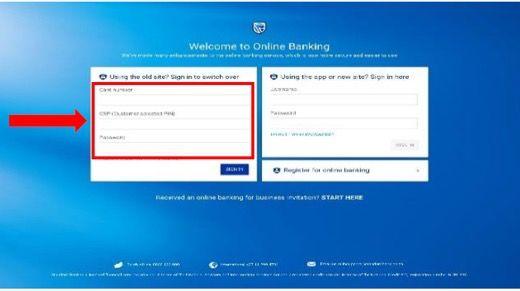 Step 1 Online Banking Registration