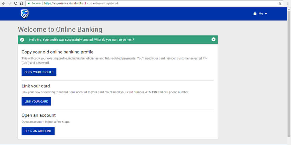 Step 4 Registering for new Online Banking