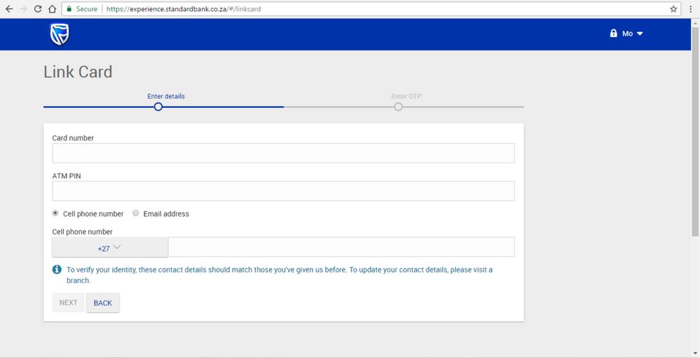 Step 5 Registering for new Online Banking