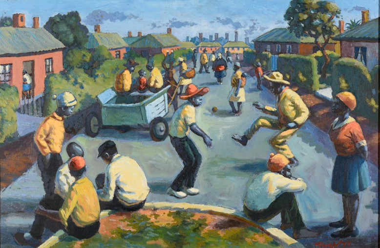 George Pemba, New Brighton, Port Elizabeth ( 1960 / Oil on Canvas)