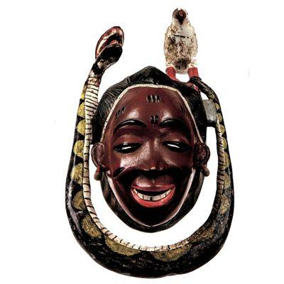 Baule-Guro. Ivory Coast. Mask. Wood, enamel paint. Standard Bank African Art Collection (Wits Art Museum)