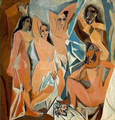 Les Demoiselles d'Avignon. Pablo Picasso. 1907. Oil on canvas. Museum of Modern Art.