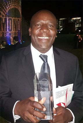 An elated Charles Mudiwa, Chief Executive of Stanbic Bank Zambia, collected the 2016 Euromoney Awards for Excellence for Best Bank in Zambia.
